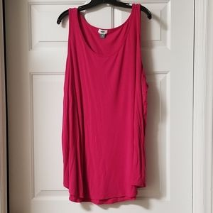 Women's Plus Size Curved Hem Sleeveless Top